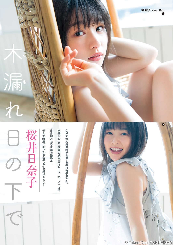 No.20 巻末グラビア 桜井日奈子 週刊ヤングジャンプ公式サイト